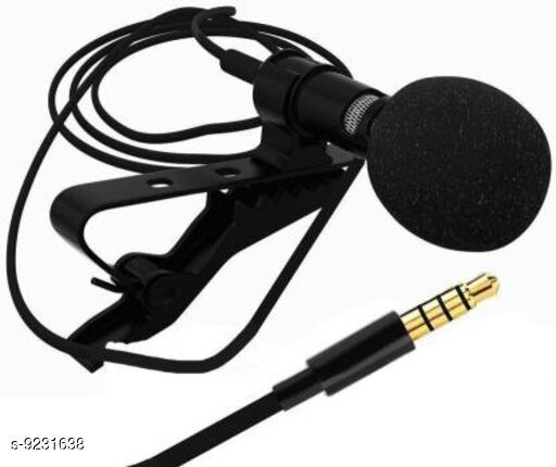 3.5mm Clip Microphone For Youtube | Collar Mike for Voice Recording | Lapel Mic Mobile, PC, Laptop, Android Smartphones, DSLR Camera Microphone Microphone (Black) Microphone Microphone