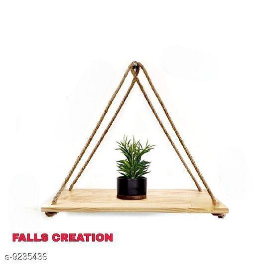 Falls Creation Natural Triangle Hanging Shelf,Wall Shelf,Rope Shelf