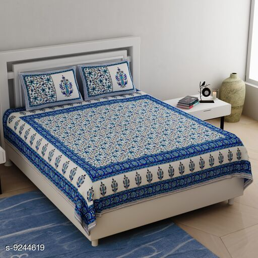 Bedsheets Attractive Cotton Bedsheets  *Fabric* Cotton Thread Count  *Sizes Available* King *    Catalog Name: Attractive  Cotton Bedsheets CatalogID_1610235 C53-SC1101 Code: 936-9244619-