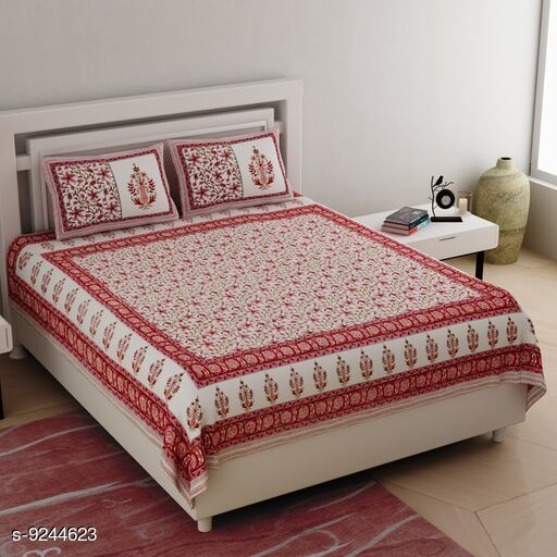 Bedsheets Attractive Cotton Bedsheets  *Fabric* Cotton Thread Count  *Sizes Available* King *    Catalog Name: Attractive  Cotton Bedsheets CatalogID_1610235 C53-SC1101 Code: 936-9244623-