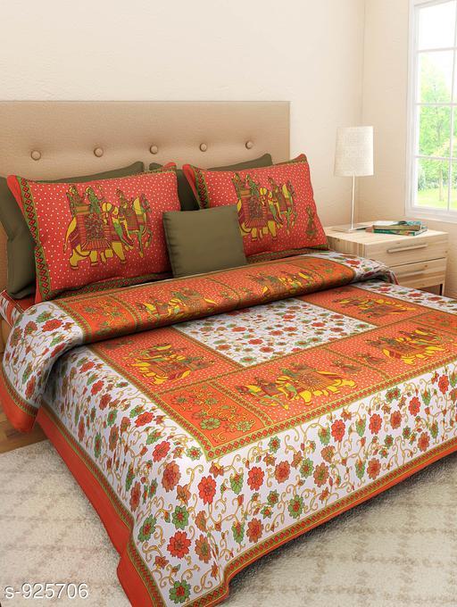 Colorful Cotton Double Bedsheet