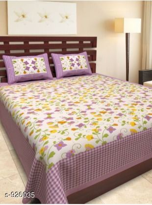 Trendy Cotton Printed Double Bedsheet