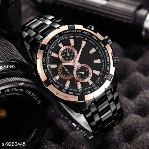 Skylark New Gold Dail New Party Wedding Watch Black Stylish Men/Boys Watch With Premium Quality Analog Watch - For Men