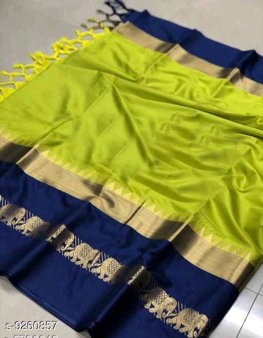 Original Soft cotton silk saree with LINING peacock design