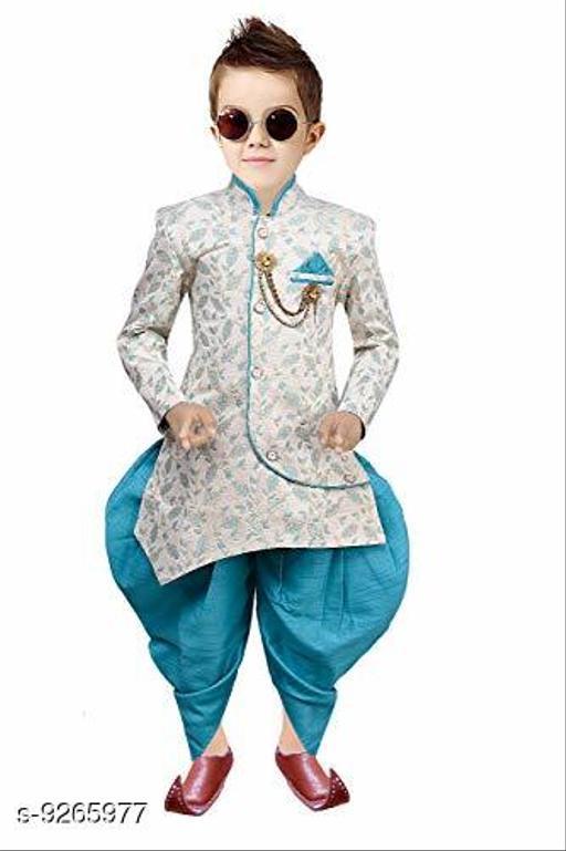 Tucute® Ethnic Wear Sherwani Style Kurta and Dhoti Set for Boys (KKE057_BLUE)