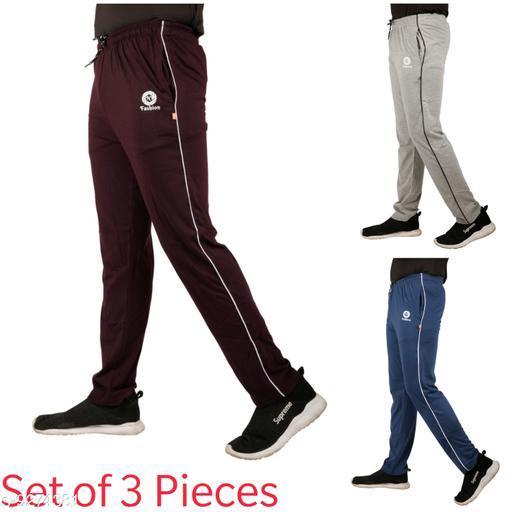 Men's Regular Fit Track Pant (Set of 3 Pieces)