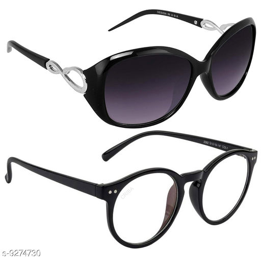 Stylish & Fashionable Sunglasses For Women And Girls With Box (Pack Of 2)