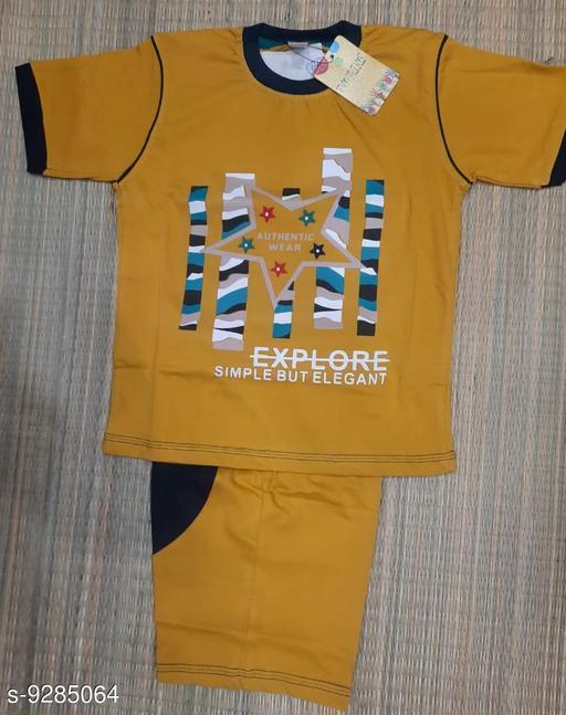 Bodysuit T-SHIRT & TROWSER  *Fabric* Cotton  *Multipack* 1  *Sizes*  3-4 Years  *Sizes Available* 3-4 Years *    Catalog Name: Urbane Fashionable Boys Bodysuit CatalogID_1619732 C62-SC1150 Code: 604-9285064-