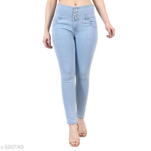 Stylish 04 Button ladies light blue Jeans