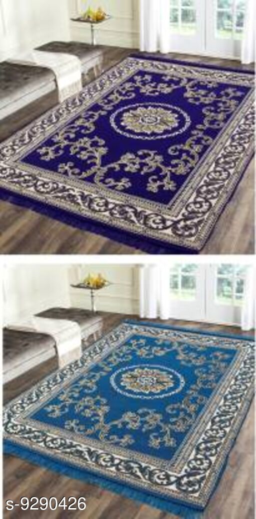 Low Weight Carpets Royal Design Carpet  *Material* Cotton With Polyester  *Multipack* 2  *Sizes*   *Free Size (Length Size* 212 cm, Width Size  *Sizes Available* Free Size *   Catalog Rating: ★4.1 (7)  Catalog Name: Trendy Stylish Carpet CatalogID_1621052 C55-SC1724 Code: 036-9290426-