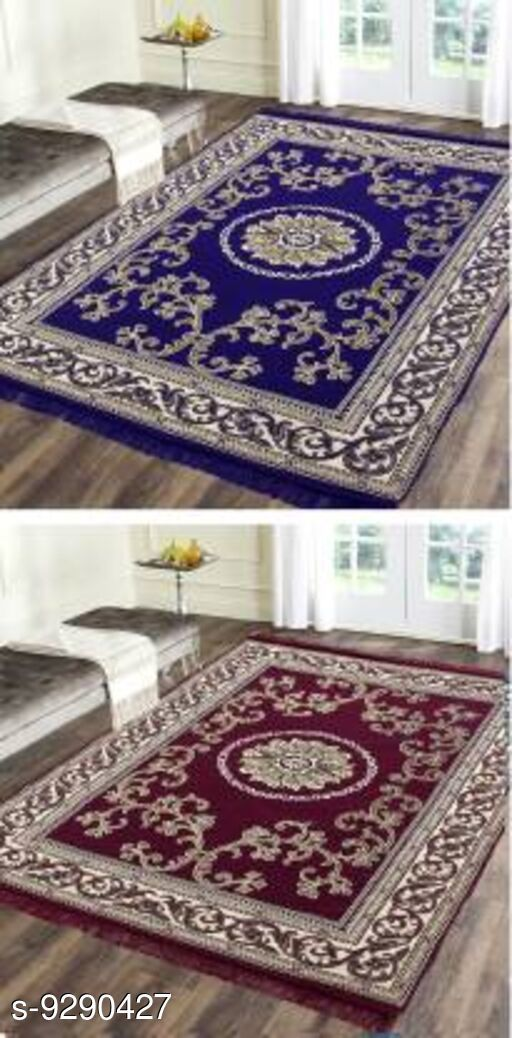 Low Weight Carpets Royal Design Carpet  *Material* Cotton With Polyester  *Multipack* 2  *Sizes*   *Free Size (Length Size* 212 cm, Width Size  *Sizes Available* Free Size *   Catalog Rating: ★4.1 (7)  Catalog Name: Trendy Stylish Carpet CatalogID_1621052 C55-SC1724 Code: 036-9290427-