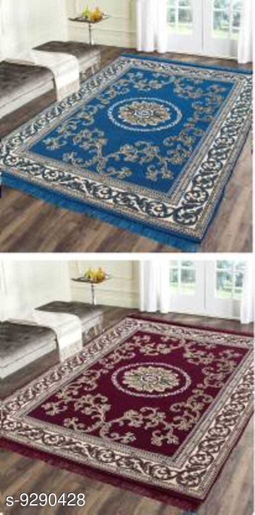 Low Weight Carpets Royal Design Carpet  *Material* Cotton With Polyester  *Multipack* 2  *Sizes*   *Free Size (Length Size* 212 cm, Width Size  *Sizes Available* Free Size *   Catalog Rating: ★4.1 (7)  Catalog Name: Trendy Stylish Carpet CatalogID_1621052 C55-SC1724 Code: 036-9290428-