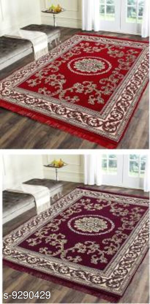 Low Weight Carpets Royal Design Carpet  *Material* Cotton With Polyester  *Multipack* 2  *Sizes*   *Free Size (Length Size* 212 cm, Width Size  *Sizes Available* Free Size *   Catalog Rating: ★4.1 (7)  Catalog Name: Trendy Stylish Carpet CatalogID_1621052 C55-SC1724 Code: 036-9290429-