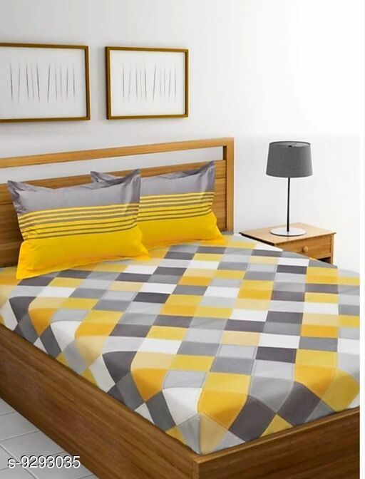 Bedsheets Trendy Cotton 99 X 90 Double Bedsheet   *Fabric* Cotton  *No. Of Pillow Covers* 2  *Thread Count* 160  *Multipack* Pack Of 1  *Pattern* Printed  *Sizes*   *Queen (Length Size* 99 in, Width Size  *Sizes Available* Queen *    Catalog Name:  Alluring Cotton 99 X 90 Double Bedsheets Vol 1 CatalogID_1621704 C53-SC1101 Code: 554-9293035-