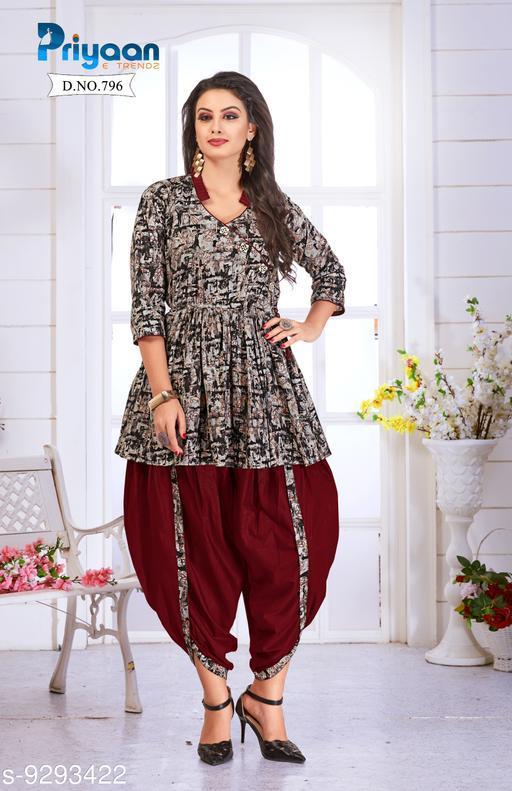 Trendy Dhoti Kurta Set For Woman