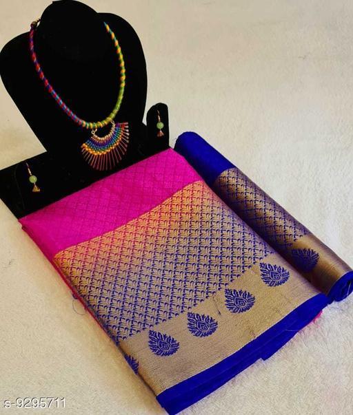 Attractive Zari Woven Tussar Silk Saree