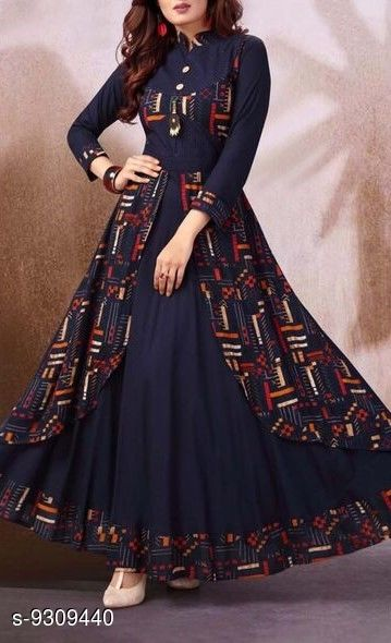 Gowns Ethnic Gowns  *Product name* Ethnic Gowns  *Fabric* cotton reyon print  – digital print  *Size*   *M(* Bust size  *L(* Bust size  *XL(* Bust size  *XXL(* Bust size flair - 3mt  *DISPATCH* 2-3 DAYS  *Sizes Available* M, L, XL, XXL *    Catalog Name: Ethnic Gowns CatalogID_1625914 C79-SC1289 Code: 6621-9309440-