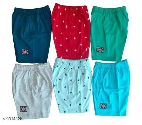 Shorts & Capris Kids Boys Cotton Hosiery shorts  *Fabric* Cotton  *Sizes*  4-5 Years  *Sizes Available* 4-5 Years *    Catalog Name: Cute Comfy Kids Boys Shorts CatalogID_1627354 C59-SC1175 Code: 126-9314328-