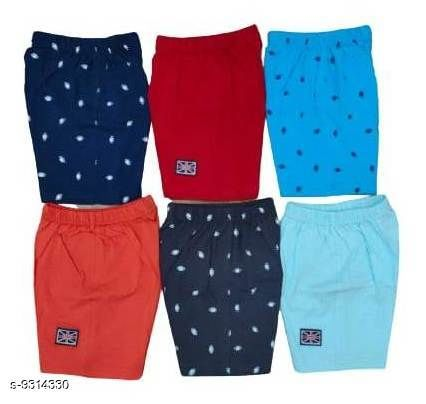 Shorts & Capris Kids Boys Cotton Hosiery shorts  *Fabric* Cotton  *Sizes*  3-4 Years  *Sizes Available* 3-4 Years *    Catalog Name: Cute Comfy Kids Boys Shorts CatalogID_1627354 C59-SC1175 Code: 126-9314330-