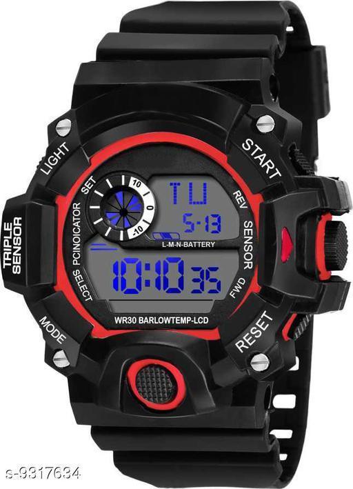 S-Shock Red Digital Sport Watch