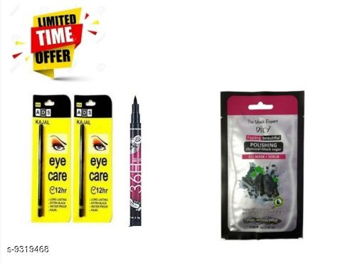 Makeup Combo Makeup Combo  *Type* Beauty Combo for All Festive Seasons  *Capacity* 9ML  *Multipack* pack of 4  *Sizes Available* Free Size *    Catalog Name: Makeup Combo CatalogID_1628524 C51-SC1540 Code: 263-9319468-