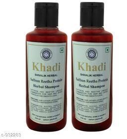 Khadi saffron Reetha protein Shampoo 420ml ( Pak of 2 )