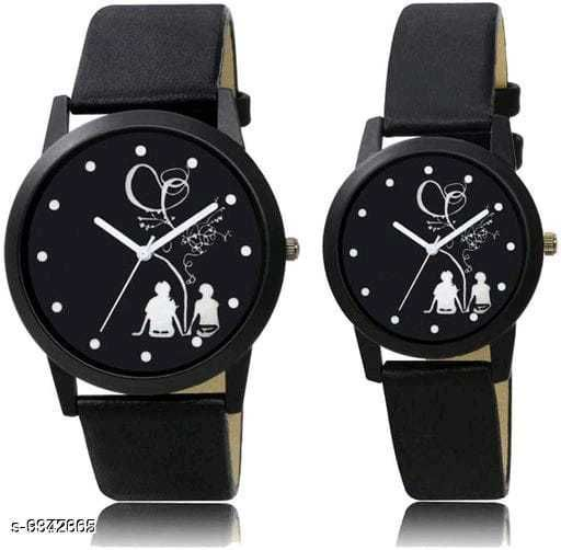 Colorful designed couple watch