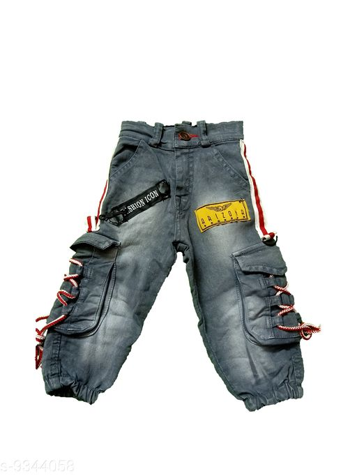 Jeans Kids Stylish Jeans   *Fabric* Cotton  *Multipack* Single  *Sizes*  9-12 Months 12-18 Months  *Sizes Available* 9-12 Months, 12-18 Months *    Catalog Name: Agile Funky Boys Jeans & Jeggings CatalogID_1439408 C59-SC1180 Code: 724-9344058-