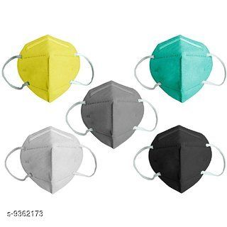 Home Streak Pollution Mask Face Mask, Protective Layer Mask, mask n-95 washable (Pack of 4 Multi Colors)