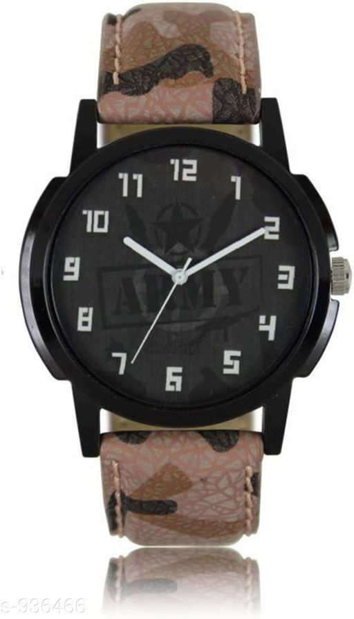 Trendy Synthetic Leather Analog Watch
