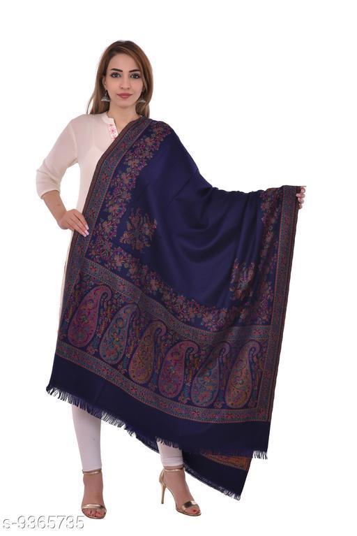 Women's Kashmiri Woolen Shawl, Jacquard palla, Warm and soft, Faux Pashmina Shawl
