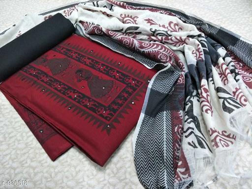 Elegant Handloom Cotton Printed Suit