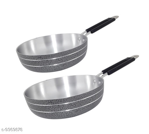 Bartan Hub Frying Pan Set (21 cm , 20 cm)