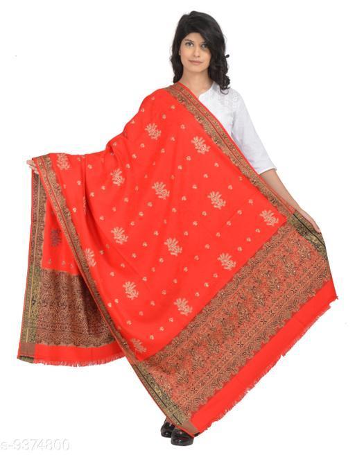 Shawls Women's Kashmiri Embroidery Kashida Shawl with Kundan Work Shawl (Heavy work shawl)  *Fabric* Wool  *Pattern* Self-Design  *Multipack* 1  *Sizes*   *Free Size (Length Size* 2 m)  *Sizes Available* Free Size *    Catalog Name: Versatile Fashionable Women Shawls CatalogID_1642656 C74-SC1011 Code: 8731-9374800-