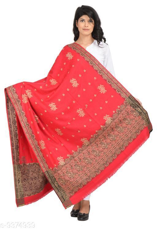 Shawls Women's Kashmiri Embroidery Kashida Shawl with Kundan Work Shawl (Heavy work shawl)  *Fabric* Wool  *Pattern* Self-Design  *Multipack* 1  *Sizes*   *Free Size (Length Size* 2 m)  *Sizes Available* Free Size *    Catalog Name: Versatile Fashionable Women Shawls CatalogID_1642656 C74-SC1011 Code: 8731-9374939-