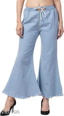 Ira Premium Joggers Flared Light Blue Jean For Women