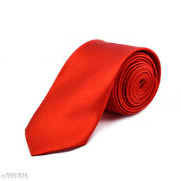 Pihu Solid Satin Tie Peach For Perfect Looks