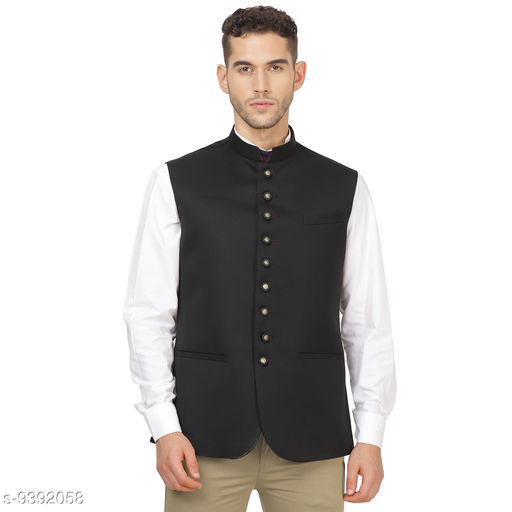 TAHVO Black Nehru Jacket