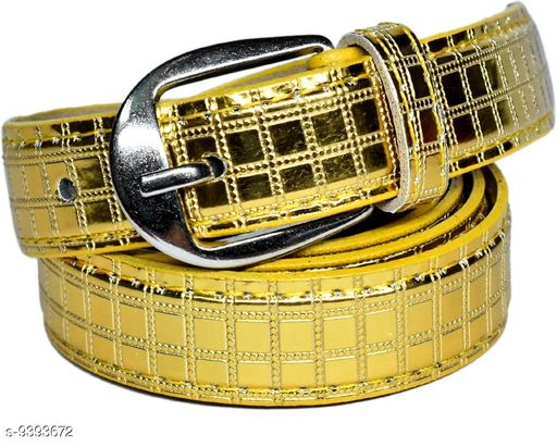 Belts Trendy Casual Beltts   *Material* Leather  *Pattern* Solid  *Multipack* 1  *Sizes*  32  *Sizes Available* 32 *    Catalog Name: Styles Latest Womans  Belts CatalogID_1509679 C72-SC1081 Code: 074-9393672-