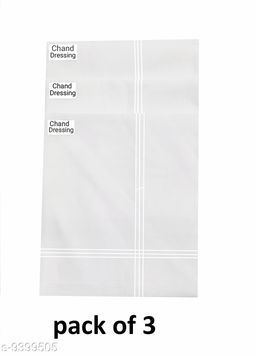 Classic Cotton Hanky For Men (pack of 3)
