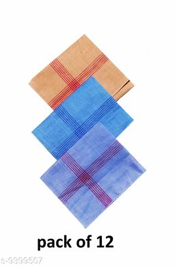 Classic Cotton Hanky For Men (pack of 12)