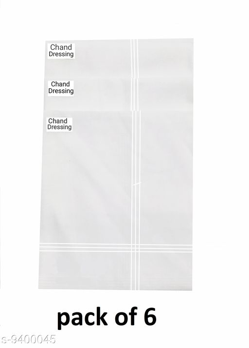 Classic Cotton Hanky For Men (pack of 6)