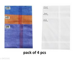 Classic Cotton Hanky For Men (pack of 4)