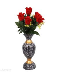 vase with fillers home décor flower bunch Metal vases