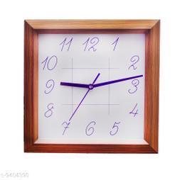 Aarav Arts Square Wood Wall Clock