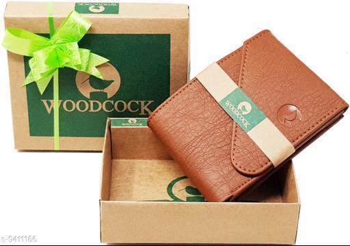 Trendy Men's Brown Faux Leather/Leatherette Wallet