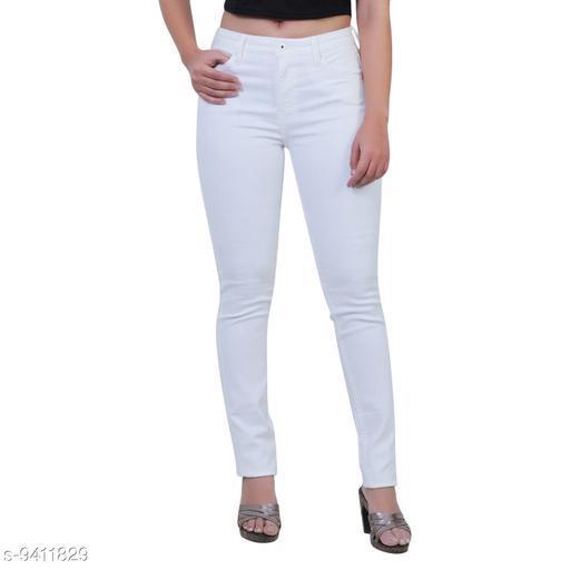 Women Stylish Cotton Lycra Streachable Mid Waist Skinny Fit Jeans
