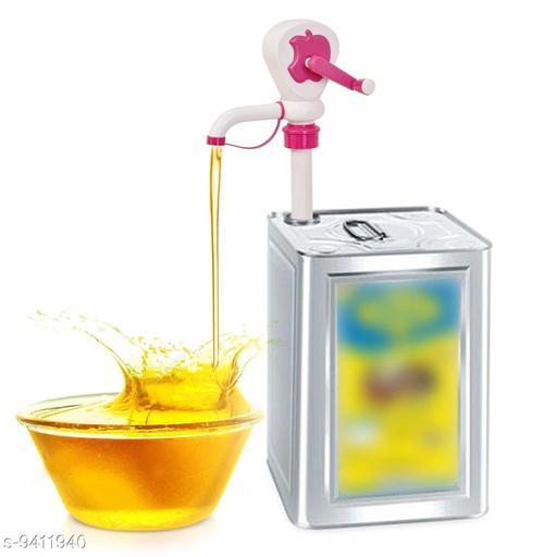 Kitchen Plastic Cooking Oil Pump-Manual Hand Oil Pump,funnel 1 Pcs (Multi Color)