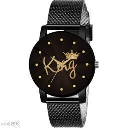 KicK Luxury Mesh safarchain Buckle Starry sky Quartz Watches For Boys Fashion Mysterious Black Analog Women Watch