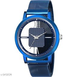 KicK GR-Open-Magnet-Blue Premium Quality Magnet Strap Designer Fashion Wrist Analog Men Watch
